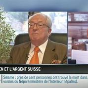 Le parti pris d'Apolline de Malherbe: Jean-Marie Le Pen est accusé d'avoir caché de l'argent en Suisse
