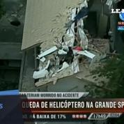 Brésil : crash d'un hélicoptère sur une maison