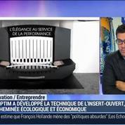 Finoptim invente l'insert ouvert de cheminée à haut rendement: Baptiste Ploquin