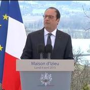 Hollande à Izieu: le repli et l'isolement sont des poisons mortels pour une nation