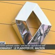 Actionnariat: le plaidoyer d'E. Macron