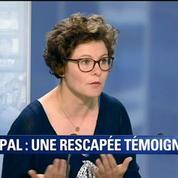 Séisme au Népal: On s'est accroché à ce qu'on pouvait, témoigne une rescapée française sur BFMTV