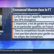 Marc Fiorentino: Macron avait même approuvé le deal en considérant que c'était la meilleure option pour Alcatel
