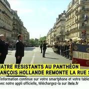 Panthéonisation : Hollande accueilli rue Soufflot par la Marseillaise