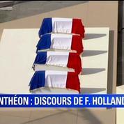 Hollande aux résistants qui entrent au Panthéon : «Prenez place»