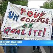 Réforme du collège publiée au JO : Bayrou appelle à une manifestation nationale