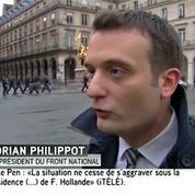 Florian Philippot : « Cette journée ne sera pas consacrée aux affaires internes [...] mais aux affaires de la France »