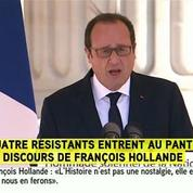 Panthéon : François Hollande salue «l'esprit de resistance»