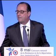 Commémoration du 8 mai: Les guerres n'ont pas disparu, rappelle Hollande