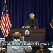 J. Yellen inquiète de la flambée des actions