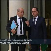 François Hollande au Qatar