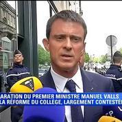 Réforme du collège: Manuel Valls veut tirer tout le monde vers le haut