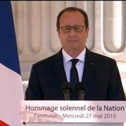 Hollande au Panthéon : «Aujourd'hui, la France a rendez-vous avec le meilleur d'elle-même»