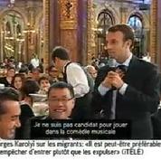 Macron vante les mérites de la nouvelle comédie musicale de Robert Hossein