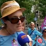 Paris: personnel de l'AP-HP et travailleurs sociaux manifestent devant le ministère de la Santé