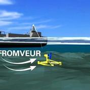 Finistère: une hydrolienne prend la mer pour éclairer Ouessant