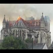 Violent incendie de la basilique Saint-Donatien à Nantes