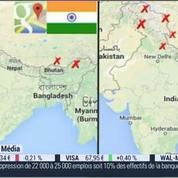 Google Maps a adapté le tracé des frontières aux représentations du territoire du pays de connexion