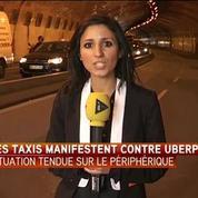 Grève des taxis : des tensions près de la porte Maillot à Paris