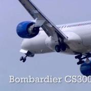 Bourget : le vol du CS300 de Bombardier