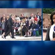 Julie Gayet fait sa première apparition publique à un déplacement officiel du président
