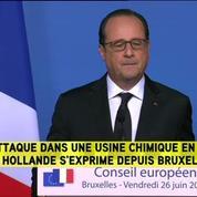 Isère: Hollande annonce qu'un auteur été arrêté et identifié
