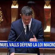 Motion de censure: Vous êtes au côté des conservateurs, dit Valls aux députés Front de gauche