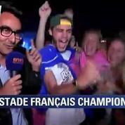 Finale Top 14 : les supporters du Stade Français fous de joie !