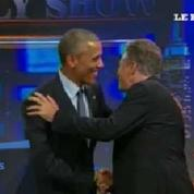 Quand Obama veut obliger Jon Stewart à rester au