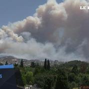 Des feux de forêt menacent la capitale grecque