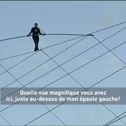 475 mètres sur un fil : record battu par un funanmbule américain