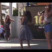 Un concert de Little Mix perturbé par un insecte géant