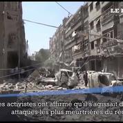 Syrie : au moins 96 morts dans un bombardement attribué au gouvernement