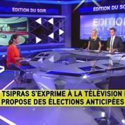 Tsipras annonce sa démission et demande des élections anticipées