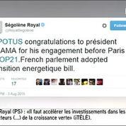 Ségolène Royal avoue avoir corrigé son tweet destiné à Obama