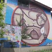 En Ukraine, un graffeur revisite les icônes chrétiennes