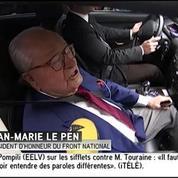 Jean-Marie Le Pen est arrivé au siège du FN