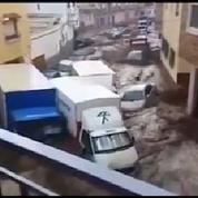 En Espagne, une inondation emporte tout sur son passage