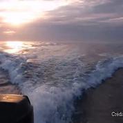 En Californie, deux pêcheurs fuient des orques