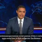 L'hommage de Trevor Noah à Jon Stewart pour sa rentrée au