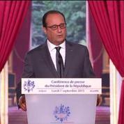 Hollande se refuse à utiliser le mot «quota»