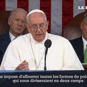 Le pape appelle le Sénat américain à lutter contre l'extrémisme