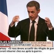 Pour Nicolas Sarkozy, le statut de réfugié de guerre ne doit durer que le temps de la guerre