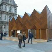 COP 21 : Un étrange pavillon en matériaux de réemploi ouvre à Paris