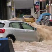 Grèce : inondations impressionnantes dans les rues d'Athènes