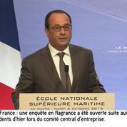 Hollande : «Nous devons avoir un dialogue social appaisé»