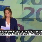 Le nouveau billet de 20 euros entre en circulation
