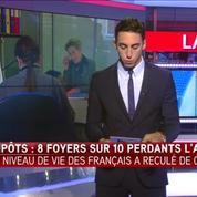Impôts: le niveau de vie des Français a reculé de 0,5% en 2014