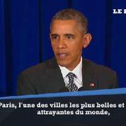 Obama : «Paris ne va pas se laisser terroriser pas ces actions insensées »