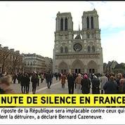 La minute de silence de François Hollande à la Sorbonne